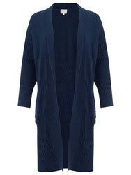 East Patchwork Edge To Edge Cardigan Navy