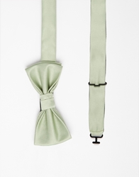Asos Bow Tie In Pastel Green