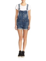3X1 Button Front Short Denim Overalls Adelphi