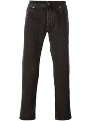 Jacob Cohen Straight Leg Jeans Brown
