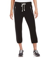 Kensie Cropped Sweatpants Black