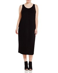 Eileen Fisher Plus Scoop Neck Maxi Dress Black