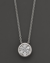 Bloomingdale's Diamond Cluster Pendant In 14K White Gold 0.25 Ct. T.W. No Color