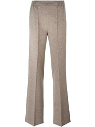 Agnona Flared Trousers Nude And Neutrals