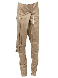 Balmain Tapered Trousers Nude And Neutrals