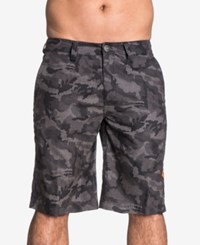 Affliction Men's Truth And Trade Camouflage Boardshorts Black