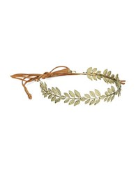 Robert Rose Leaf Headband Gold