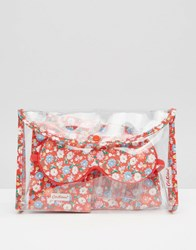 Cath Kidston Essential Travel Gift Set Meadow Ditsy Clear