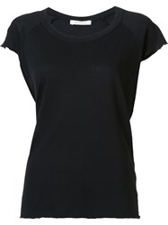 Nili Lotan Shortsleeved T Shirt Black