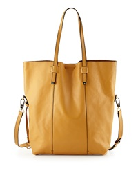 Halston Heritage North South Leather Tote Bag Tan