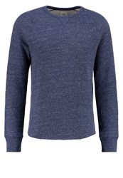 Gap Sweatshirt Navy Heather Dark Blue