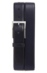 Boss Men's 'Gerron' Leather Belt Dark Blue
