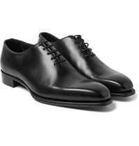 Kingsman George Cleverley James Whole Cut Leather Oxford Shoes Black