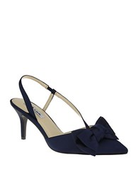 Nina Teddi Pointed Toe Pumps Navy
