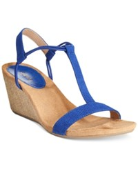 Styleandco. Style And Co. Mulan Wedge Sandals Only At Macy's Women's Shoes Blue