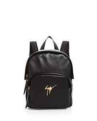 Giuseppe Zanotti Leather Logo Backpack Black