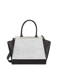 Foley Corinna Jackson Speckled Structured Leather Tote Bag Black Speckle