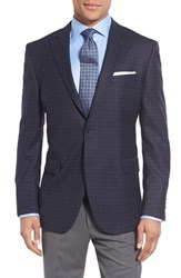 Peter Millar Men's Big And Tall 'Flynn' Classic Fit Plaid Wool Sport Coat Blue