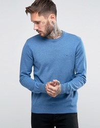 Armani Jeans Jumper With Crew Neck And Logo In Blue Blue