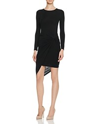 Astr Naomi Twist Front Dress Black