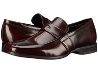 Calvin Klein Carrigan Burgundy Brush Off Smooth Men's Slip On Dress Shoes Brown