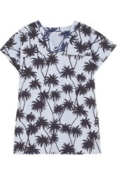 Tomas Maier Printed Cotton Poplin Top Sky Blue