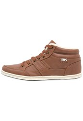 British Knights Restyle Mid Hightop Trainers Cognac