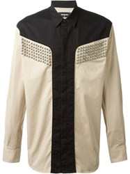 Dsquared2 Studded Shirt Nude And Neutrals