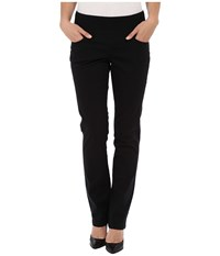 Jag Jeans Peri Pull On Straight Bay Twill Black Women's Casual Pants