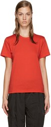 Comme Des Garcons Red Jersey T Shirt