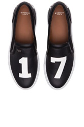 Givenchy Pervert 17 Leather Skate Sneakers In Black