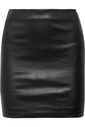 The Row Loattan Stretch Leather Mini Skirt