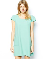 Love A Line Shift Dress With Pockets Mint