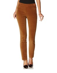 Rafaella Petite Stretch Corduroy Ankle Pants Light Tawny