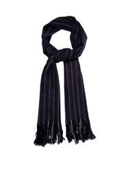 Isabel Marant Alva Wool And Cashmere Blend Scarf Navy