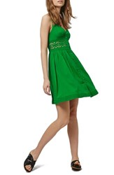 Women's Topshop Crochet Inset Sundress Bright Green