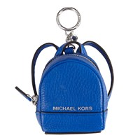 Michael Michael Kors Rhea Backpack Leather Coin Charm Electric Blue