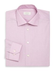Eton Of Sweden Contemporary Fit Dotted Cotton Dress Shirt Lilac