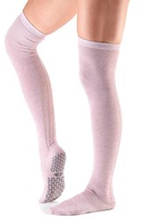 Toesox Women's 'Kris' Over The Knee Gripper Socks