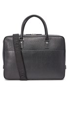 Salvatore Ferragamo Revival Leather Briefcase Black