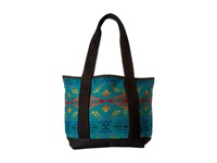 Pendleton Small Canvas Tote Diamond River Turquoise Tote Handbags Blue
