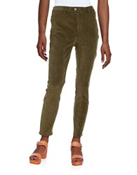 Free People Corduroy Skinny Pants Green