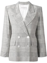 Yves Saint Laurent Vintage Checked Blazer Nude And Neutrals