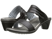 Naot Footwear Isis Jet Black Leather Women's Slide Shoes