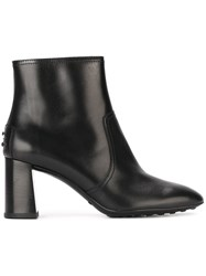 Tod's Zipped Ankle Boots Black