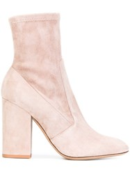 Valentino Stretch Ankle Boots Pink Purple