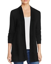 Three Dots Brushed Open Cardigan Black