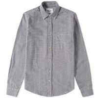 Portuguese Flannel Carvalho Houndstooth Shirt White