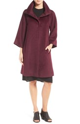 Eileen Fisher Women's Drapey Suri Alpaca Blend High Collar Coat