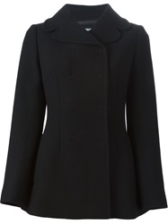 Dolce And Gabbana Double Breasted Short Coat Black